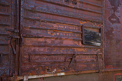 Boxcar door by David Brossard on Flickr