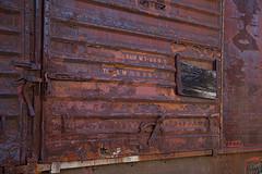 Boxcar door by David Brossard on Flickr